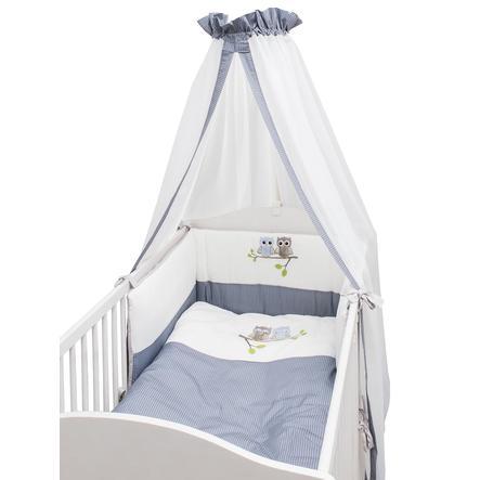 Be Be 's Collection sengesæt 3-stk, ugler blå