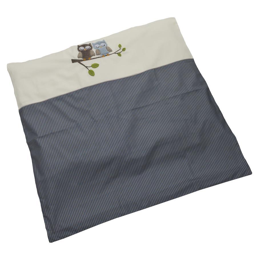 Be Be 's Collection sengetøy ugler blå 80 x 80 cm