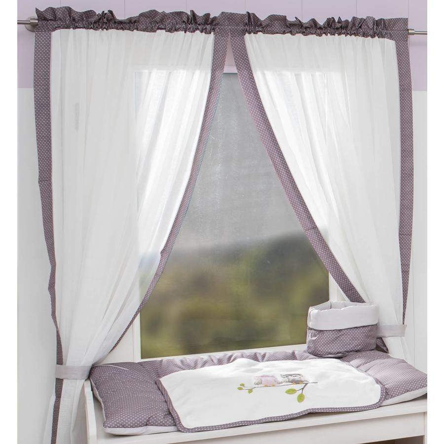 Cortina de la Colección Be Be 's 2 bufandas de bucle búho rosa 100 x 150 cm