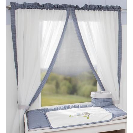 Be Be 's Collection gardin 2 løkke skjerf ugler blå 100 x 150 cm