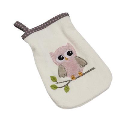 Be Be's Collection mycí rukavice sovy růžové
