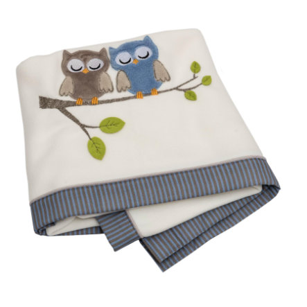 Be Be 's Collection Fleece-Decke Eulen blau