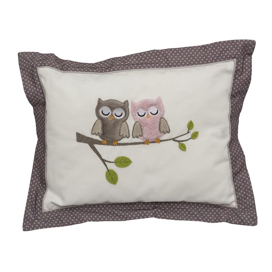 Be Be's Collection pehmoinen tyyny pöllöt vaaleanpunainen