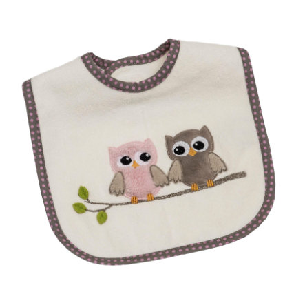 Be Be 's Collection Velcro bibs ugler pink