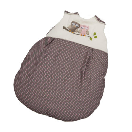 Be Be's Collection zimní spacák sovy růžový