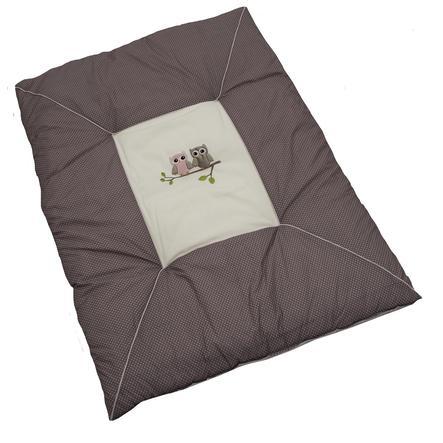 Be Be 's Collection kravletæppe ugler lyserød 100 x 135 cm