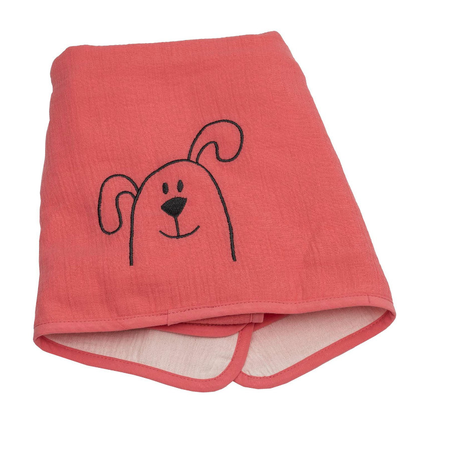 Be's Collection Musselin blanket dog salmon 70 x 100 cm