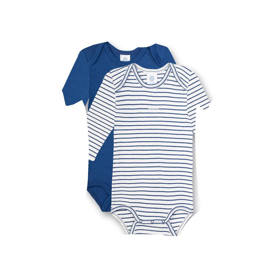 Sanetta Body 2er Pack 1/1 Arm urban blue