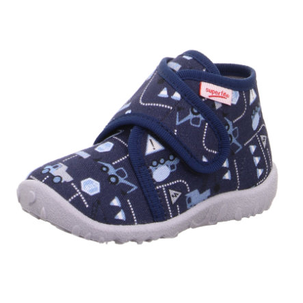 superfit Boys Hausschuh Spotty blau