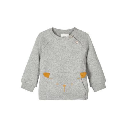 name it Sweatshirt Nbnuxobo grå melange
