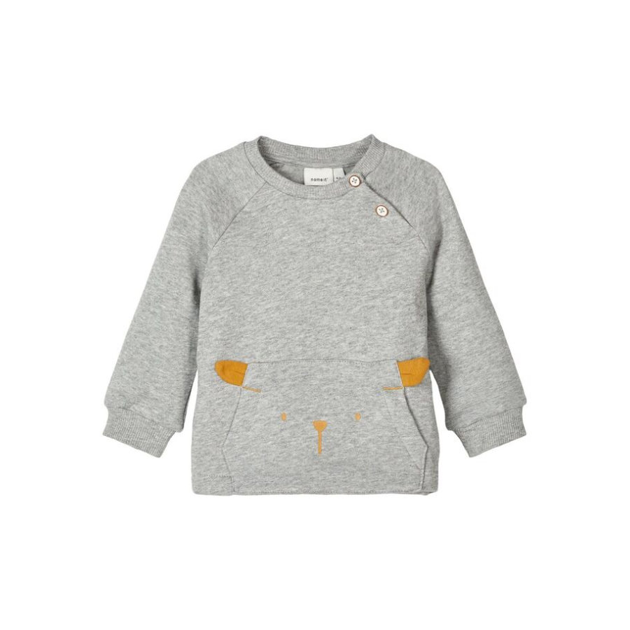 name it Sweatshirt Nbnuxobo grey melange