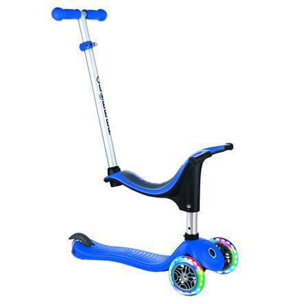 Globber Scooter Evo 4-in-1 mit Leuchtrollen, blau