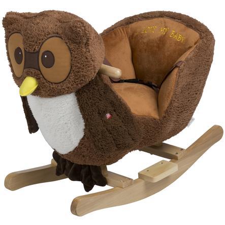 babyGO - Gungande djur Rocker Owl brun