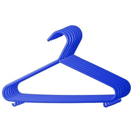 bieco Kleiderbügel aus Kunststoff 8er Stück blau