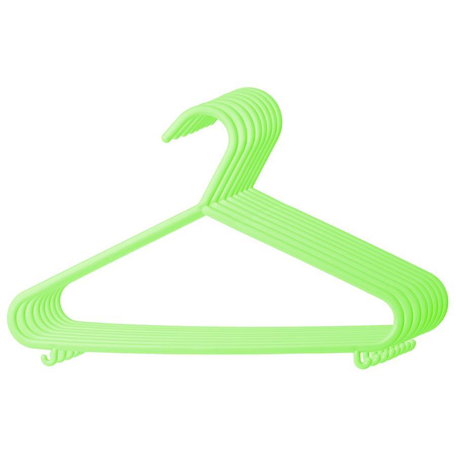 bieco Kleiderbügel aus Kunststoff 8 Stück grün