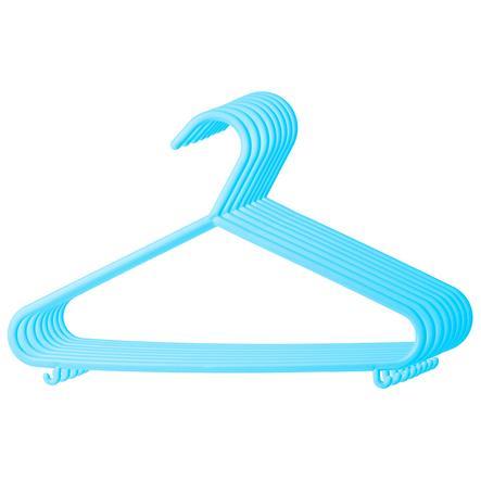 BIECO Tøjbøjler 8 pak lyseblå