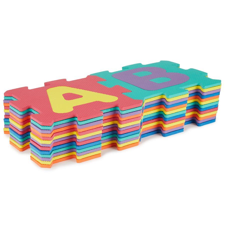 bieco Tapis puzzle alphabet multicolore, 26 pièces
