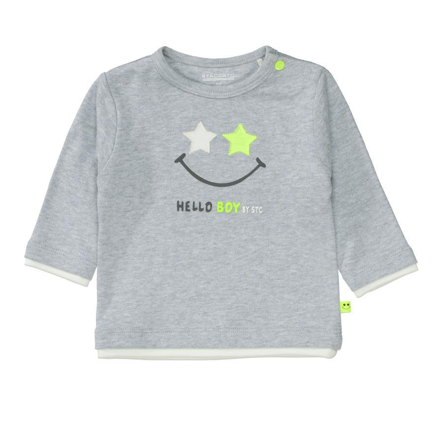 STACCATO  Camisa de niño gris suave melange