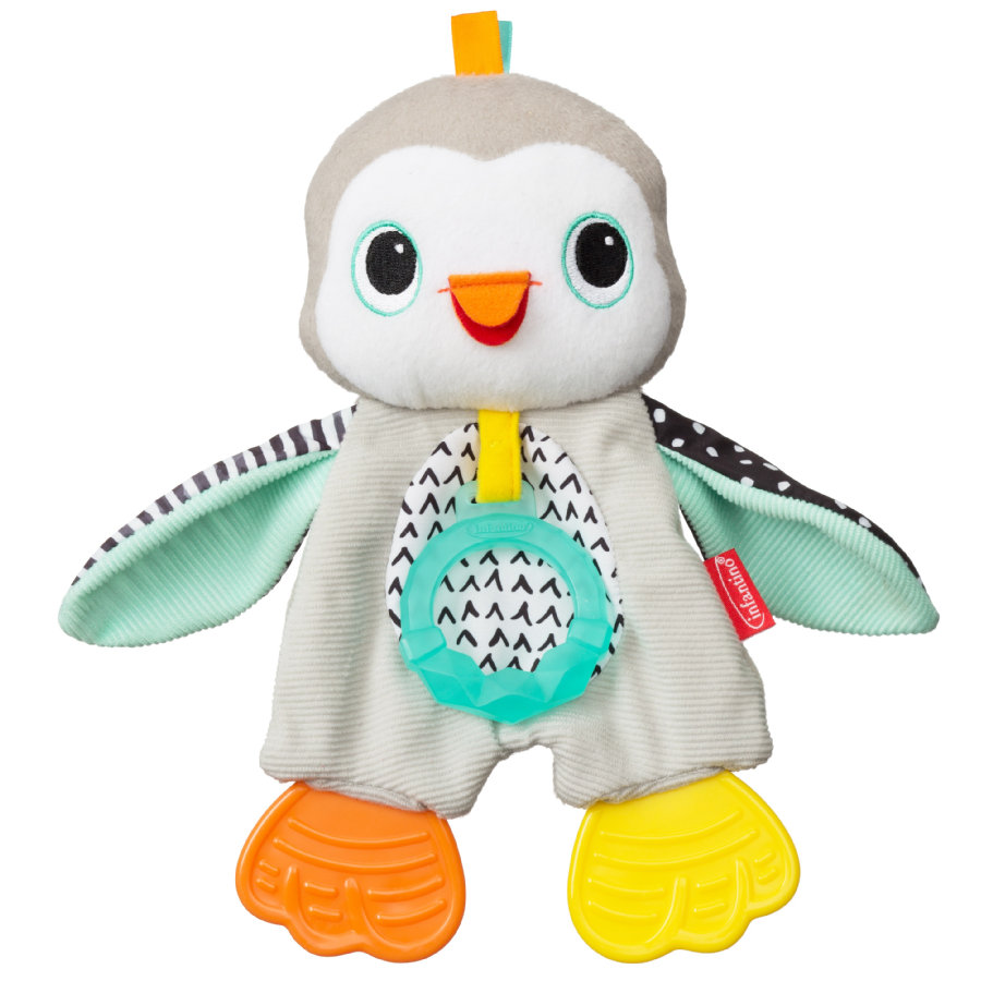 Infantino Doudou anneau de dentition pingouin