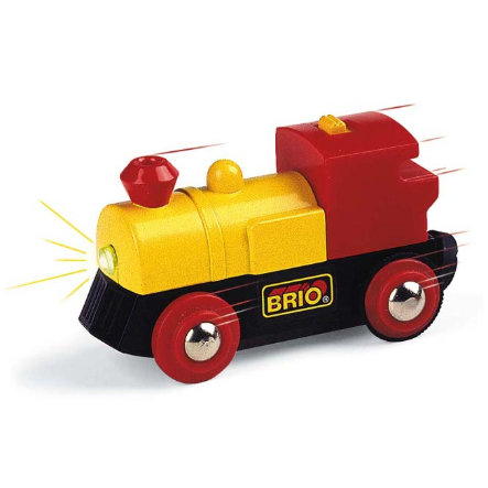 BRIO Locomotive jaune bidirectionnelle à pile