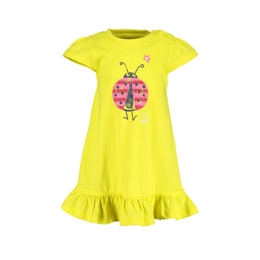 BLUE SEVEN Girls Pletené šaty žluté Original