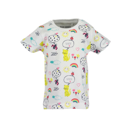BLUE SEVEN Girls T-Shirt weiss Rainbow
