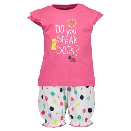BLUE SEVEN Girls Set of 2 T-Shirt + Shorts Pink Original