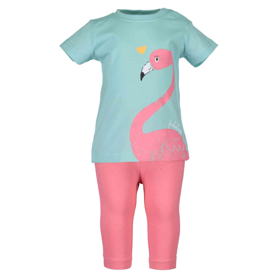 BLUE SEVEN Girls 2er Set T-Shirt + Capri Hose Sea