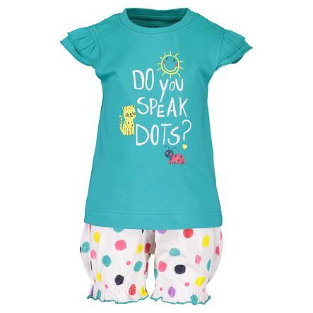 BLUE SEVEN Girls Set med 2 T-shirt + shortslagun