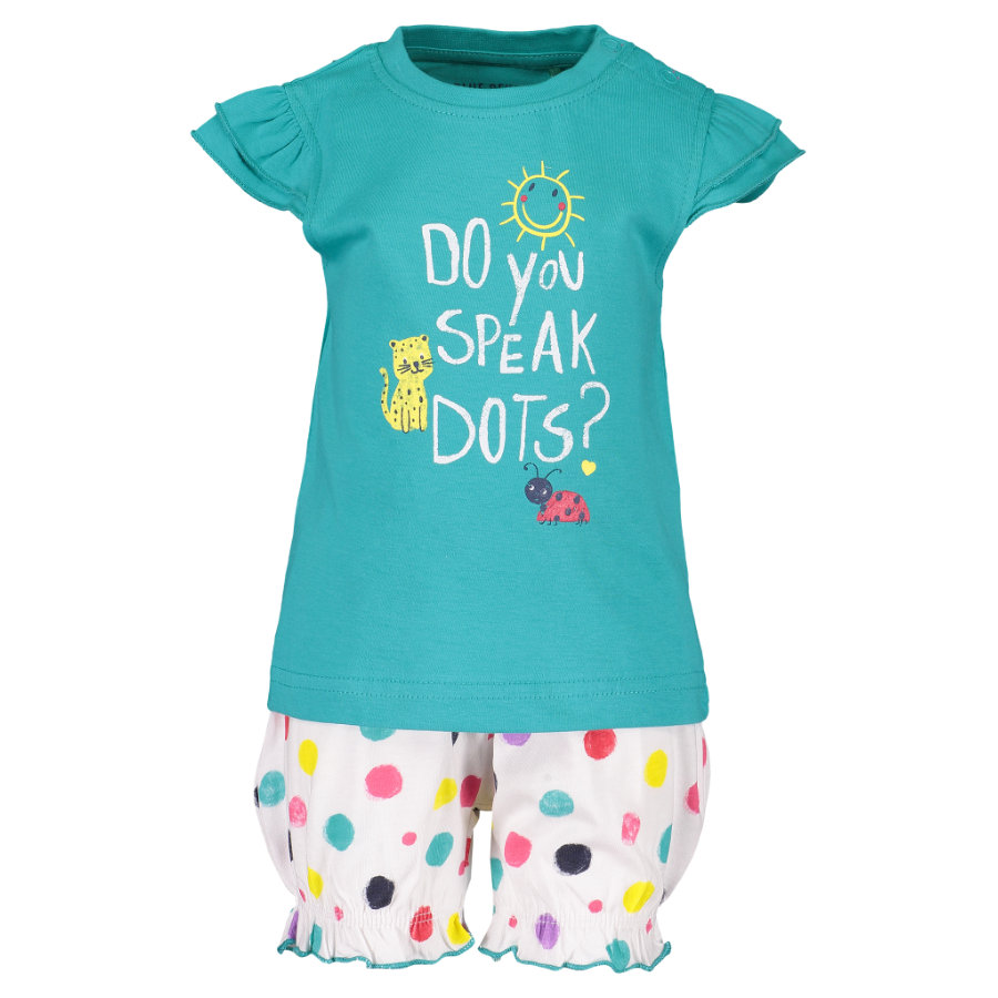 BLUE SEVEN Girls 2er Set T-Shirt + Shorts Lagune