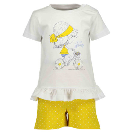 BLUE SEVEN Girls 2er Set T-Shirt + Shorts Weiss