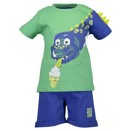 BLUE SEVEN Dívčí sada 2 triček + šortky světle zelená