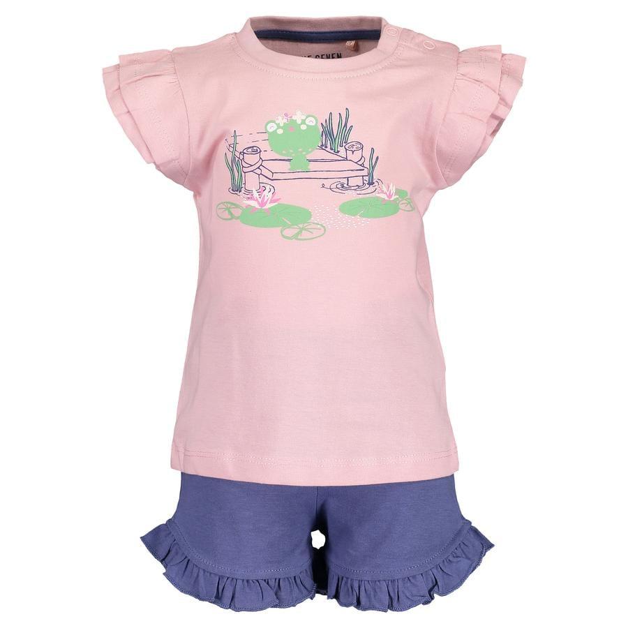 BLUE SEVEN  Girls Set de 2 camisetas + Shorts rosa