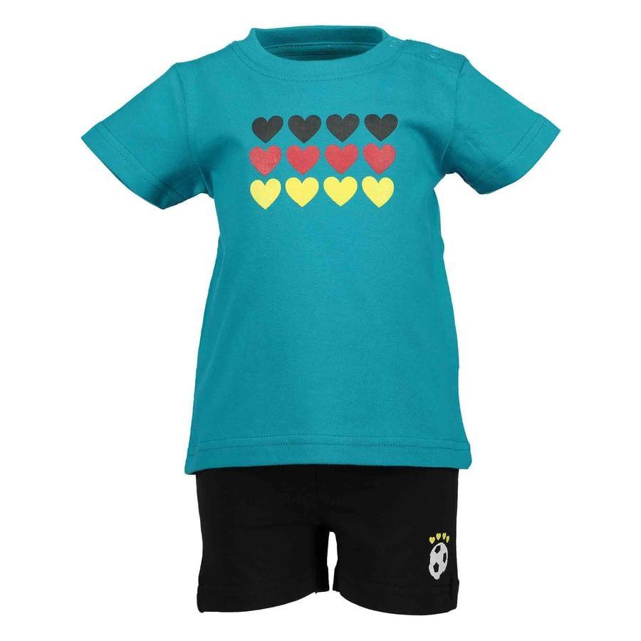 BLUE SEVEN Girls 2er Set T-Shirt + Capri Hose Lagune