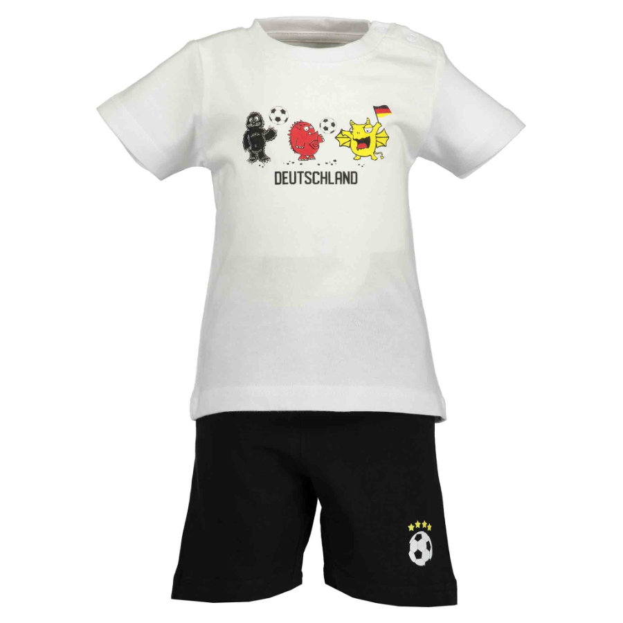 BLUE SEVEN Boys 2er Set T-Shirt + Capri Hose Weiss