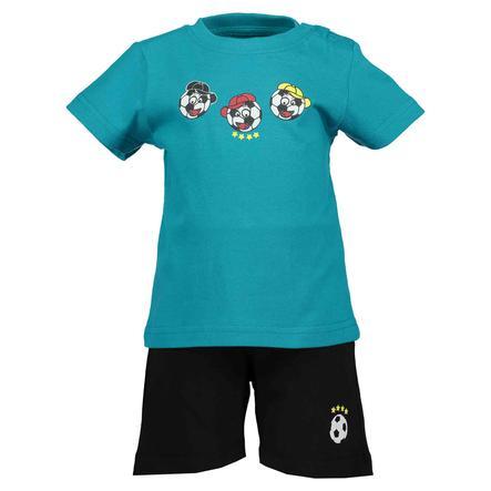BLUE SEVEN Boys 2er Set T-Shirt + Capri Hose Lagune