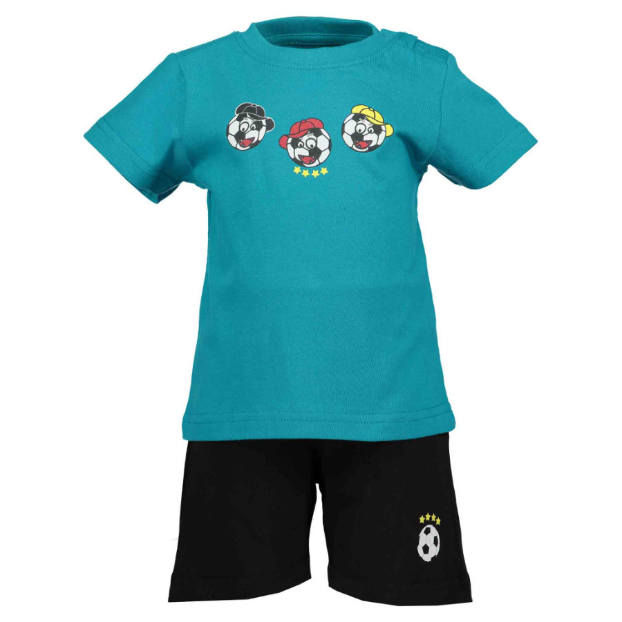 BLUE SEVEN Boys Set of 2 T-Shirt + Capri pants Lagoon