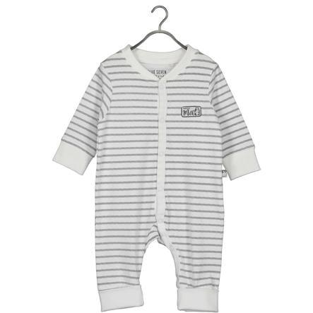BLUE SEVEN Baby romper suit White Stripe