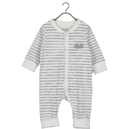 BLUE SEVEN Baby romperdrakt White Stripe