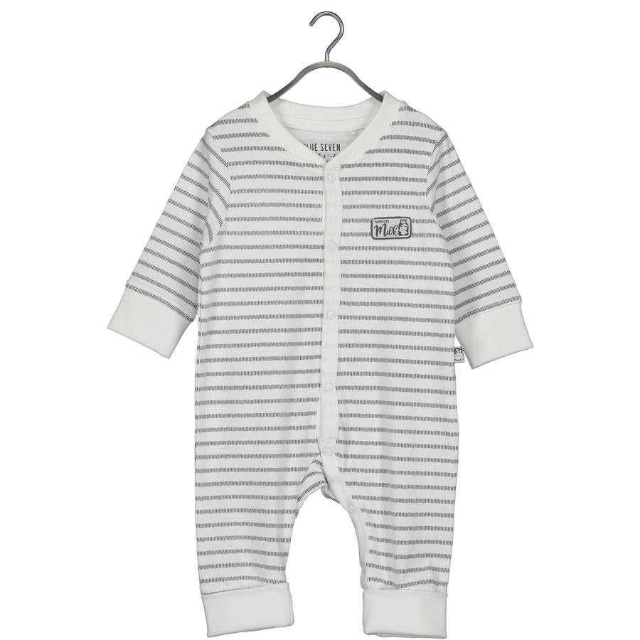 BLUE SEVEN  Baby romper pak White Stripe