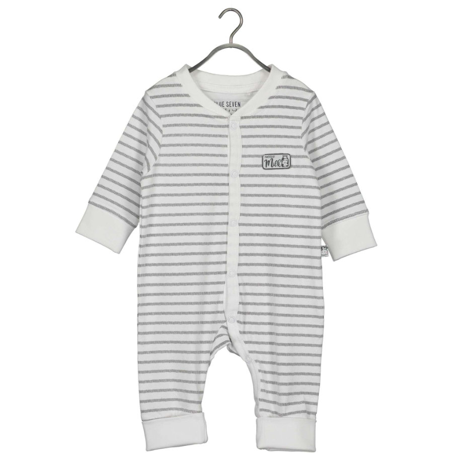 BLUE SEVEN Baby Strampler White Stripe