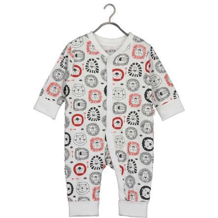 BLUE SEVEN  Costume de grenouillère pour bébé AOP blanc