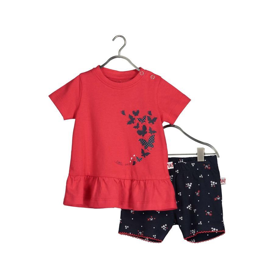 BLUE SEVEN Baby 2dílná souprava tunika + šortky jasně červené