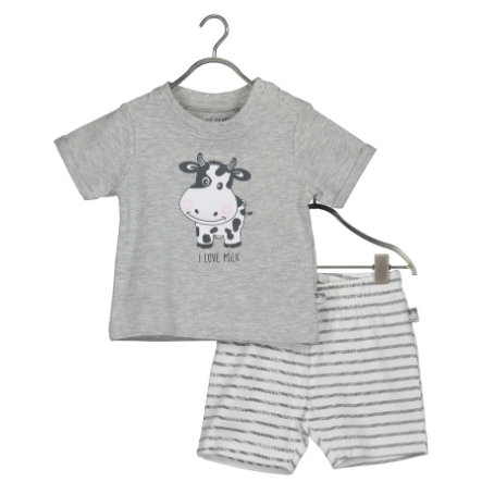 BLUE SEVEN Baby 2-dílná sada Milk Shirt + Medium Shorts grey