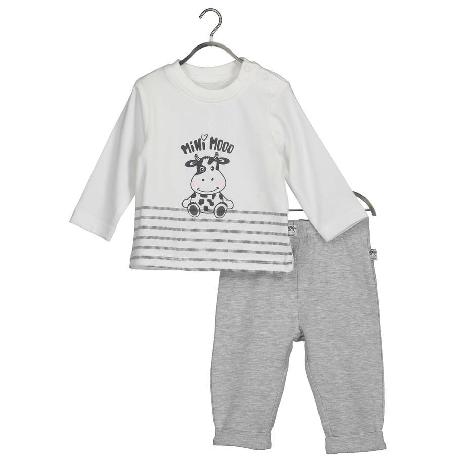 BLUE SEVEN Baby 2-delt sett Melke skjorte + bukser hvit