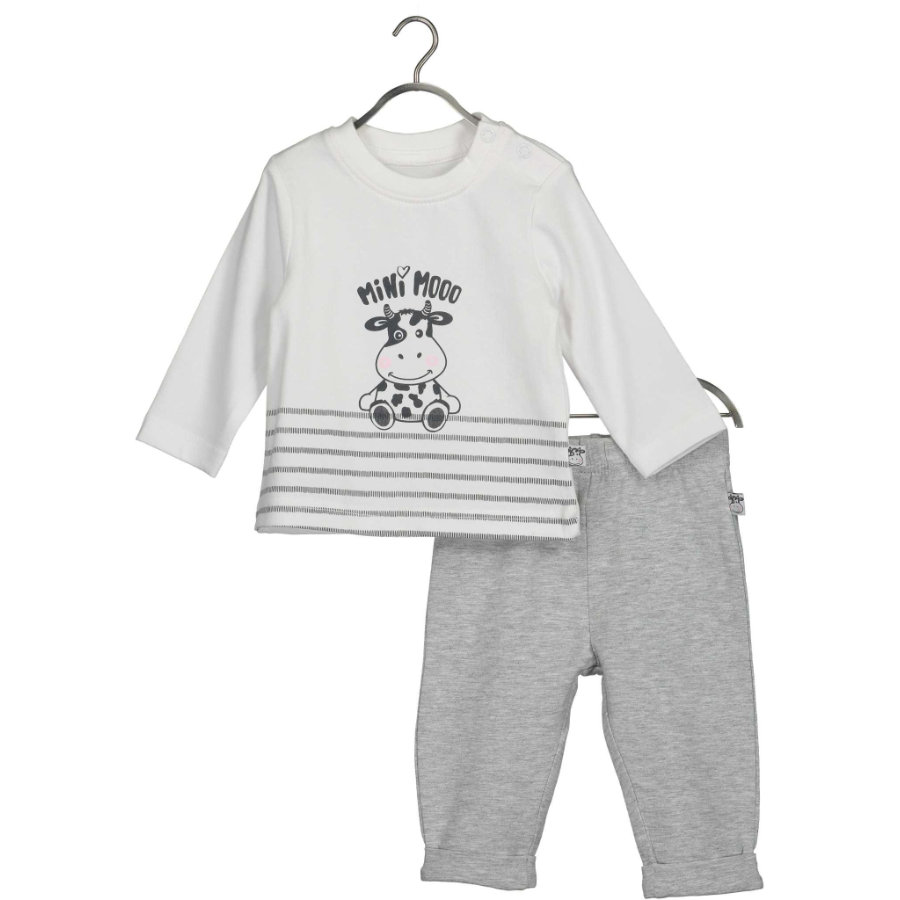 BLUE SEVEN Baby 2er-Set Milk Shirt + Hose Weiss