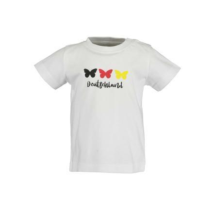 BLUE SEVEN T-Shirt Schmetterling Weiss