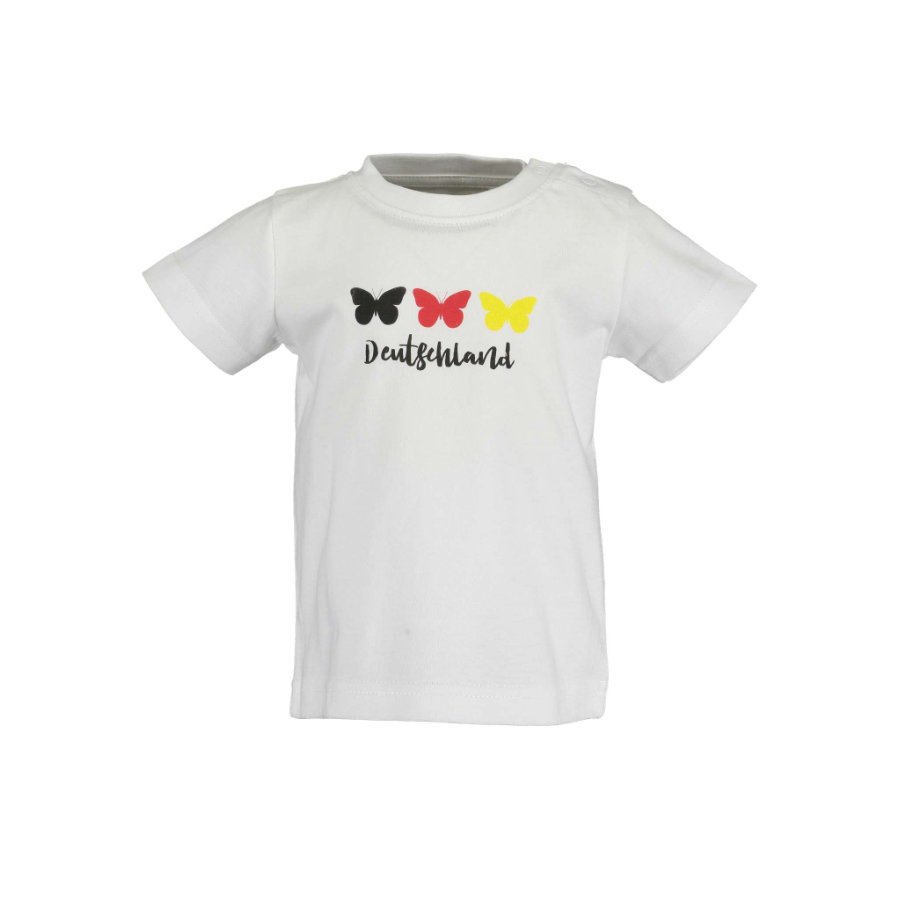 BLÅ SEVEN T-shirt Butterfly White