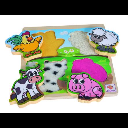 Eichhorn Puzzle tactile enfant, tissu, 5 pièces