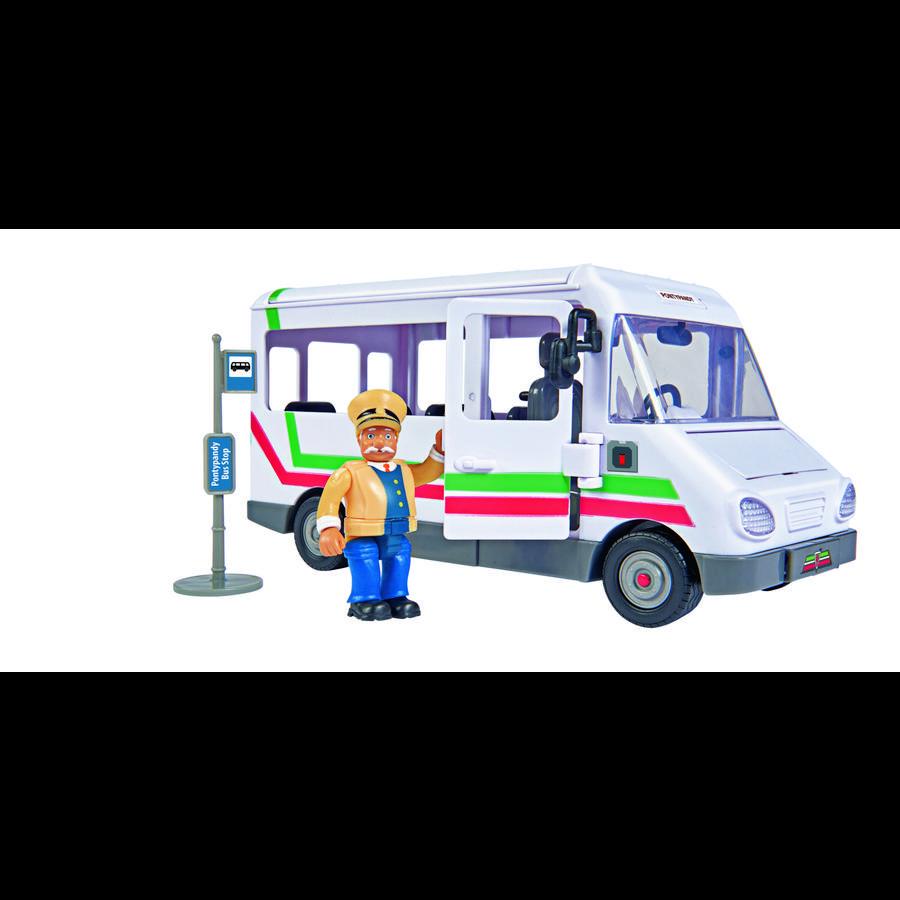 Simba Brandweerman Sam - Trevor's bus met figuur